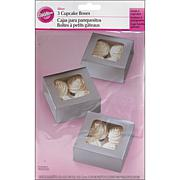 Wilton Cupcake Box 4 Cavity 3-pack - Silver