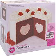 Wilton Tasty-Fill Non-stick Cake Pan Set - Heart