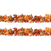 Winter Lane Set of 2 Maple Leaf Garlands - 6'