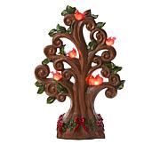 Winter Lane Tabletop Tree with Cardinals, LEDs and Timer