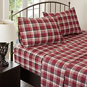 Woolrich Cotton Flannel Red Sheet Set - Queen
