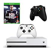 """Xbox One S 1TB 4K Game Console with """"Madden NFL '18"""" and Controller"""