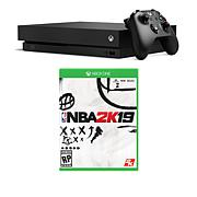 "Xbox One X 1TB Console Bundle with ""NBA 2K19"" and Accessories"