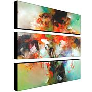 "Zavaleta ""Abstract II"" 3-Panel, Giclée-Print Set"