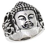 King Baby Jewelry Sterling Silver Buddha Ring
