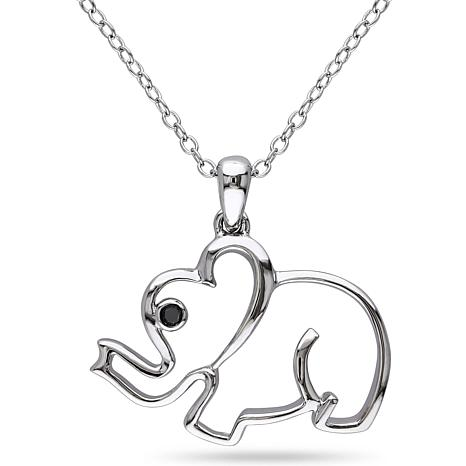 sterling pendant charm on luck good dogeared chain a silver necklace elephant