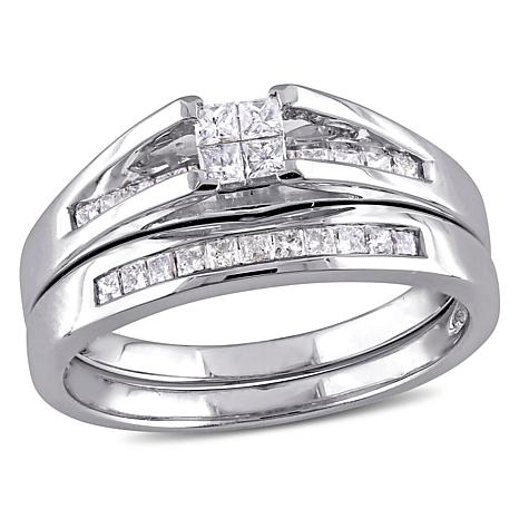 0.5ctw Diamond Engagement Ring and Band 10K Gold Set