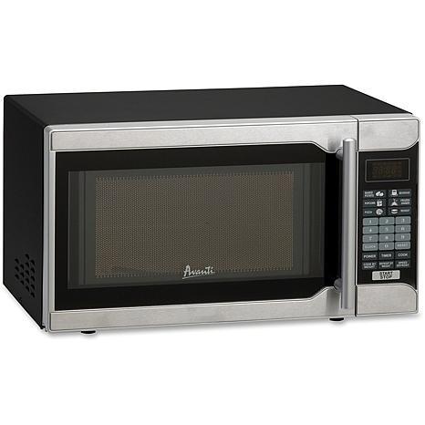 0.7 Cu Ft 700W Microwave (Black/Stainless Steel)