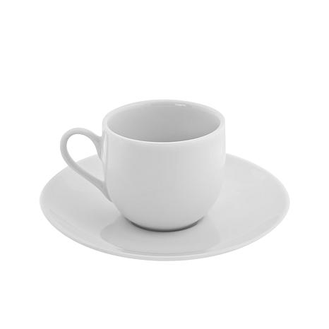 10 Strawberry St Classic White Ballet Demi Cup & Saucer