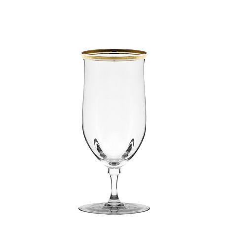 10 Strawberry St Set of 4 Windsor Water Goblets - Gold
