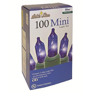 100 Blue Mini Lights