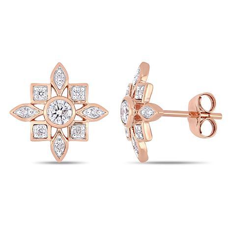 10K Rose Gold 0.33ctw Diamond Stud Earrings