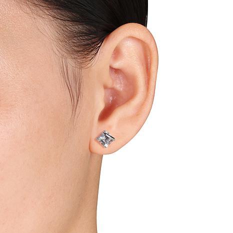 6f2cf12598071 10K White Gold 2ctw Square Aquamarine Stud Earrings