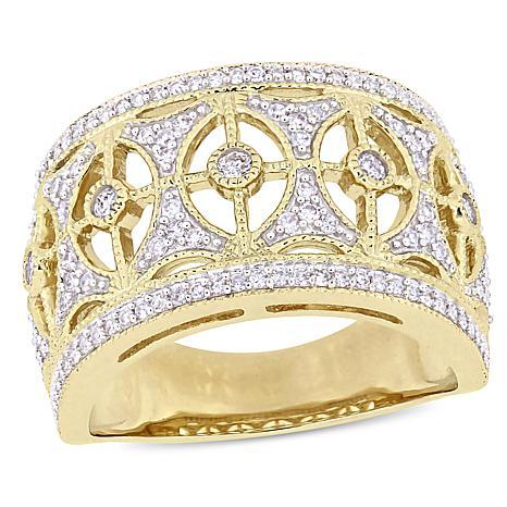 10K Yellow Gold 0.50ct Diamond Vintage-Style Ring