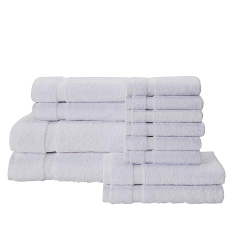 12-Piece 100% Turkish Cotton Towel Set