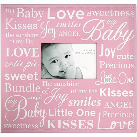 """12"""" x 12"""" Baby Expression Post Bound Album - Pink"""