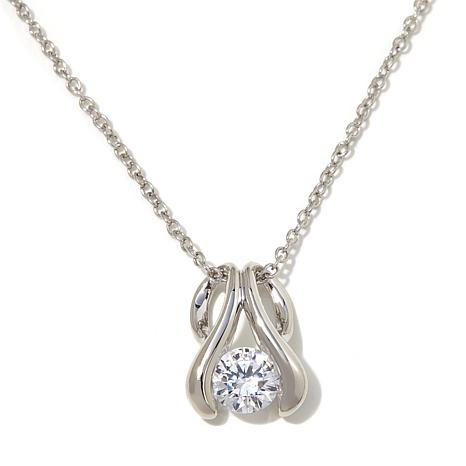 1.25ctw Absolute™ Round Stone Tension-Style Pendant