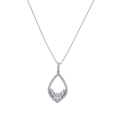 "1.30ctw Absolute™  Kite-Shaped Pendant with 18"" Chain"
