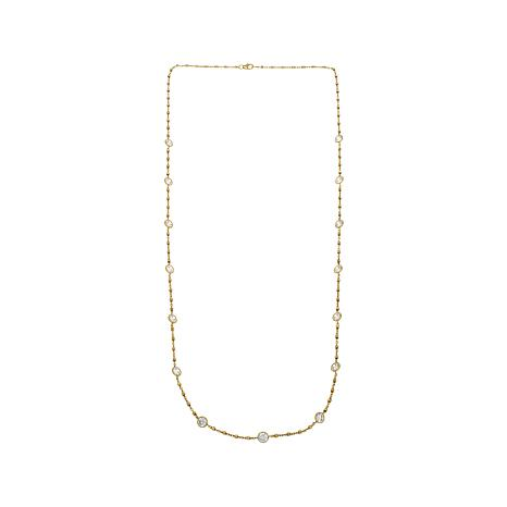 "13.50ctw Absolute™ Round CZ 30"" Station Necklace"