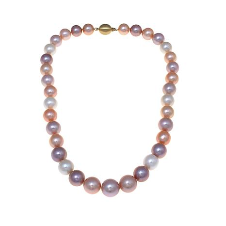 "14K 12-15mm Multicolor Ming Cultured Pearl 20"" Necklace"