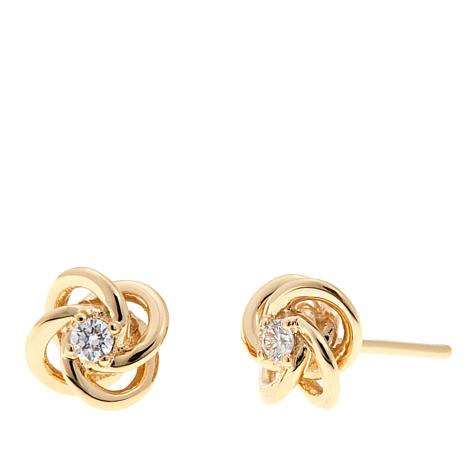 lunden post jewelers love white knots gold products knot earrings diamond