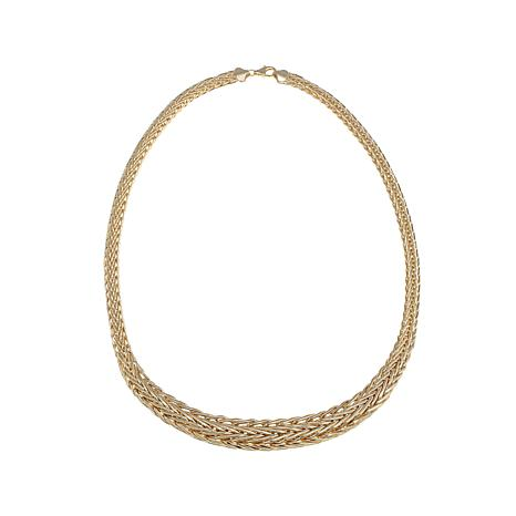 "14K Graduated Wheat Chain 18"" Necklace"