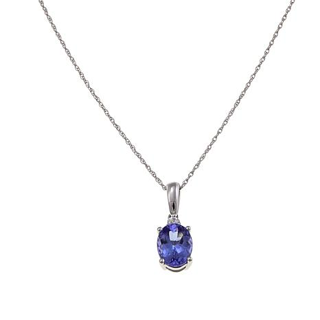 14k white gold 117ctw zircon and tanzanite pendant with 18 chain 14k white gold 117ctw zircon and tanzanite pendant mozeypictures Choice Image
