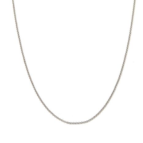 """14K White Gold 1.9mm Rolo 20"""" Necklace"""