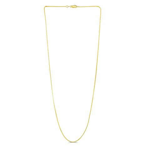 14K Yellow Gold 0.87mm Box Chain Necklace - 20""