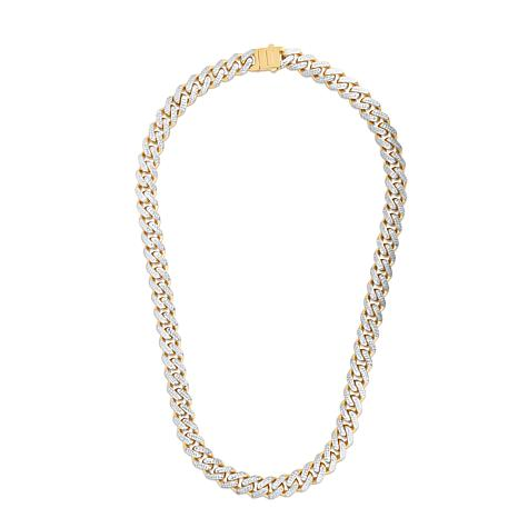"""14K Yellow Gold 11.3mm Light Miami Cuban Chain Necklace - 22"""""""