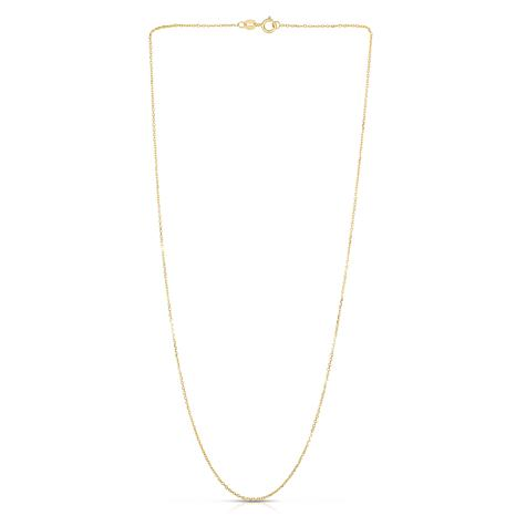 """14K Yellow Gold 1.1mm Diamond-Cut Cable Chain Necklace - 16"""""""