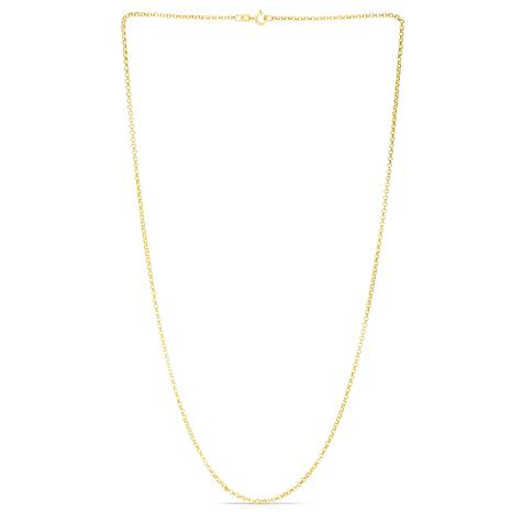 """14K Yellow Gold 1.9mm Rolo Link Chain - 16"""""""
