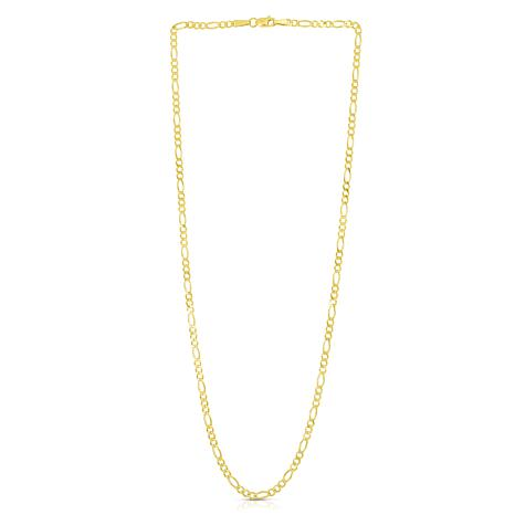 14K Yellow Gold 2.8mm Diamond-Cut Figaro Chain Necklace - 20""
