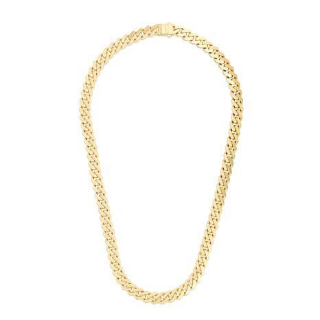 14K Yellow Gold 9.5mm Polished Light Miami Cuban Chain Necklace - 22""