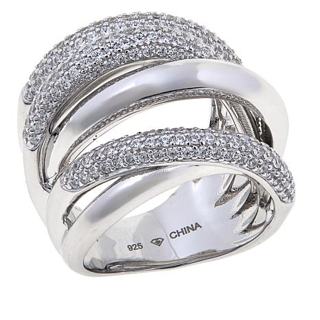 1.70ctw Absolute™ Pavé and Polished Overlapping Ring