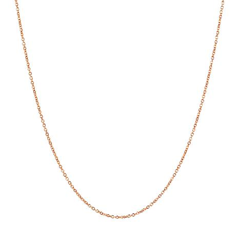"""18"""" 14K Gold Oval Rolo Chain"""