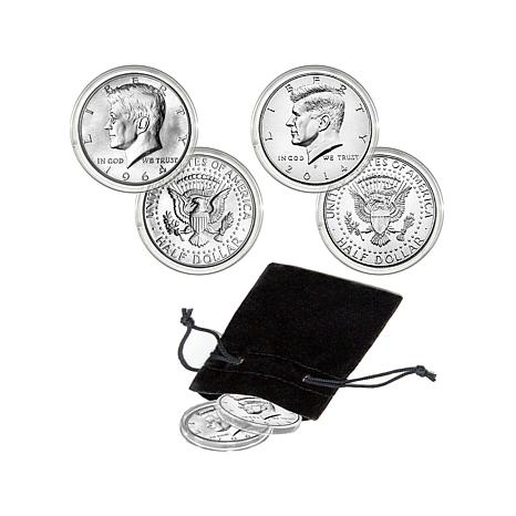1964 and 2014 Kennedy Half Dollar 50th Anniversary Set