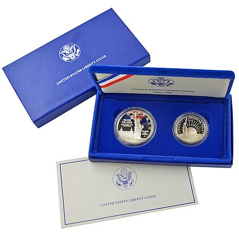1986 Statue of Liberty 2-piece Proof Coin Set