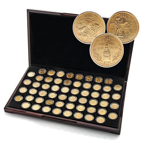 1999-2009 Complete Set of 24K Gold-Plated State Qtrs  sc 1 st  HSN.com & 1999-2009 Complete Set of 24K Gold-Plated State Quarters - 5882870 | HSN