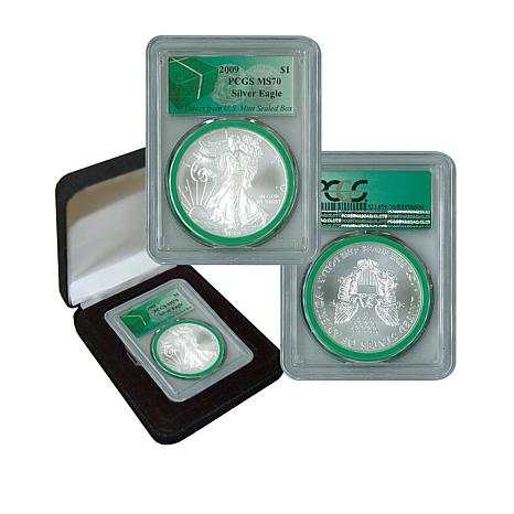 2009 MS70 PCGS Silver Eagle - Monster Box Green Label