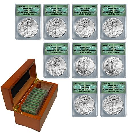 2011-2017 MS69 Supplemental Silver Eagle 9-Coin Set