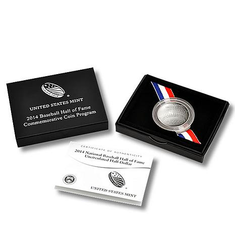 2014 Baseball Hall of Fame Uncirculated Silver Dollar