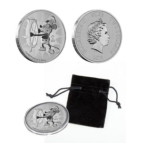 2017 Disney Steamboat Willie 1 oz. Silver Niue $2 Coin
