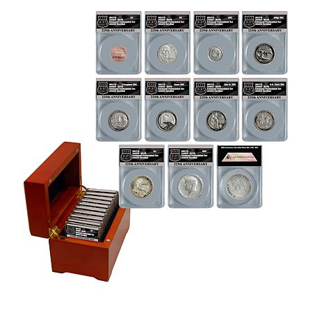 2017 EU70 ANACS S-Mint U.S. Mint 225th Anniversary 10-Coin Set