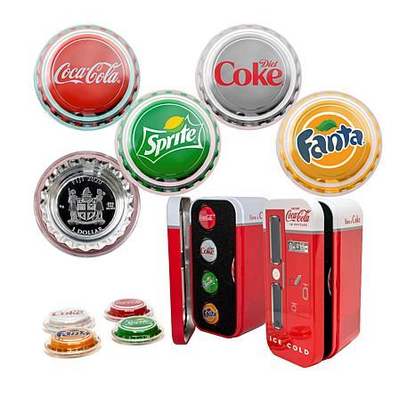 NEW 2020 Coca-Cola Vending Machine Silver 4-coin set Sprite~Fanta~Diet Coke