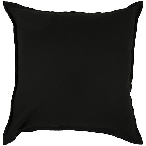 Plain Black Throw Pillow : 21