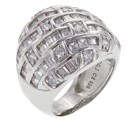2.40ctw Absolute™ Round and Baguette Basketweave Ring