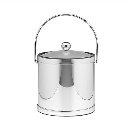 3-Qt Mylar Ice Bucket with Bale Handle and Lucite Lid