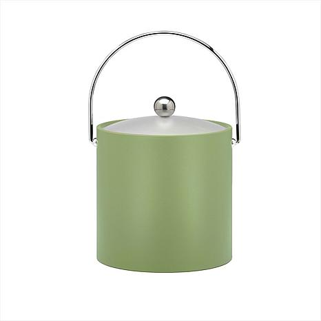 3-Quart Ice Bucket with Metal Bale Handle and Vinyl Lid