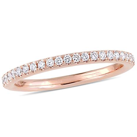 .31ctw Diamond 14K Rose Gold Anniversary Band Ring
